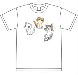 オリジナルねこTシャツ(クッキー、ポッキー、ポロン)