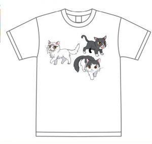 オリジナルねこTシャツ(ノア、ジャック、ラグドール)